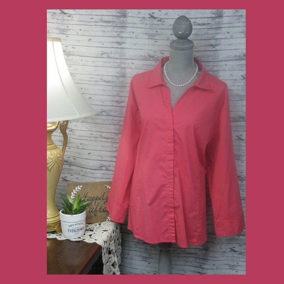 95705bbc Lee Tops | Riders By Effortless Care Blouse Size 4x | Poshmark